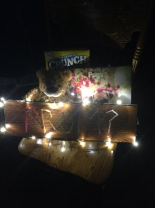 """The finalized """"promposal"""" set up for Eric."""