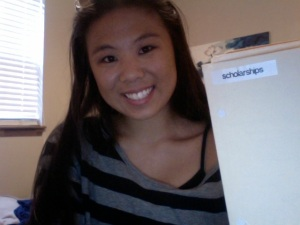 Me and my handy scholarship folder!