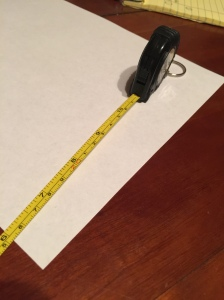 "I set my tape measure to the 11"" mark! *11/11=1"