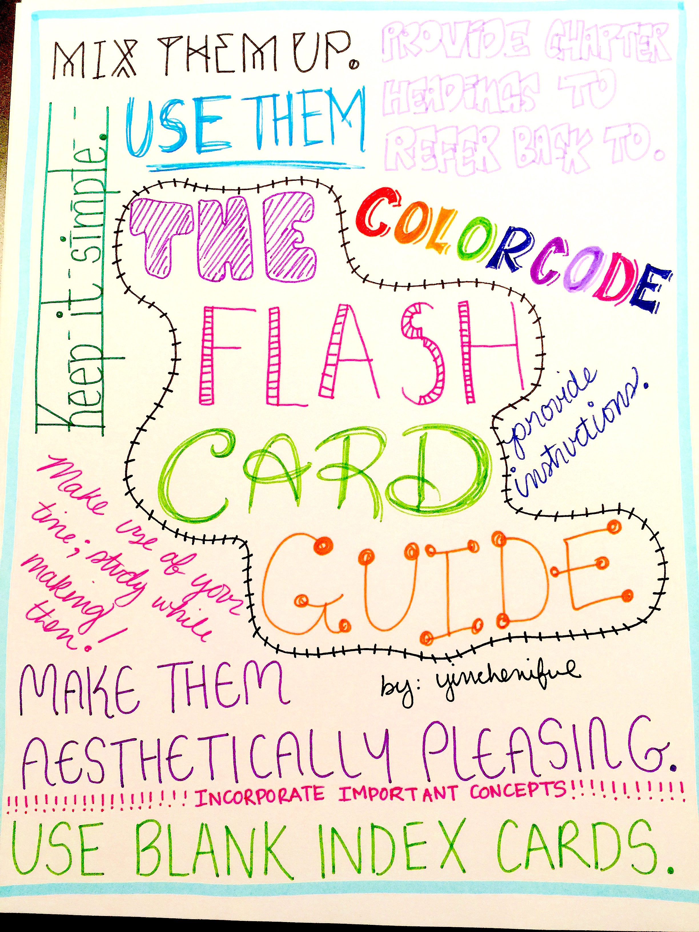 college tips make the most of your flash cards yincheniful i thought it would be fun to make a little poster for all these tips let me know what you guys think